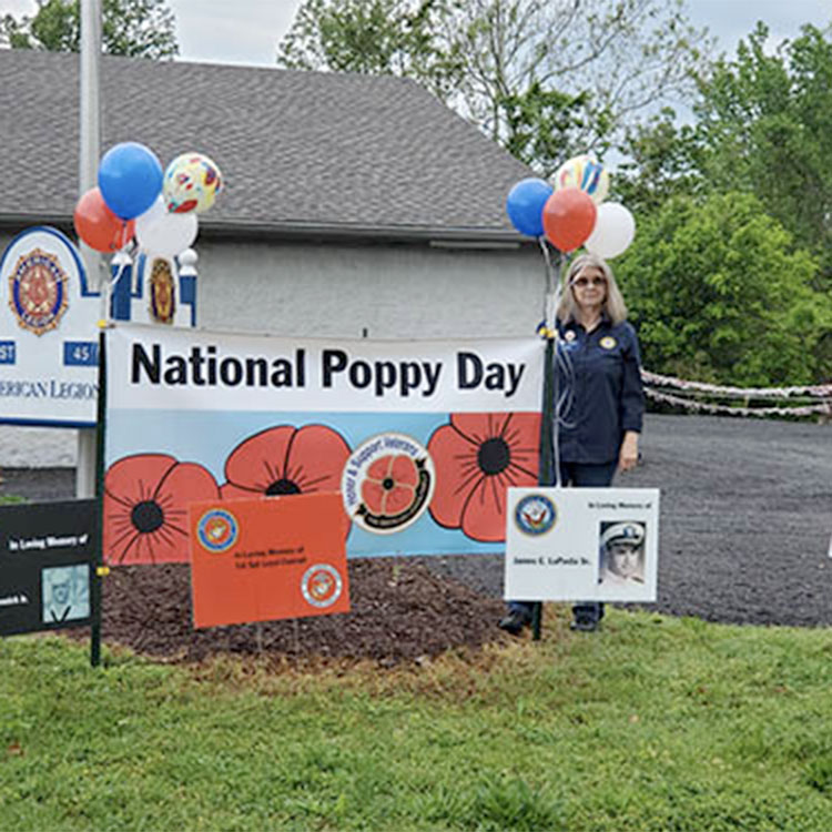 drive-thru helps distribute poppies