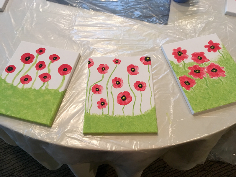 Craft project: Poppy painting for Juniors